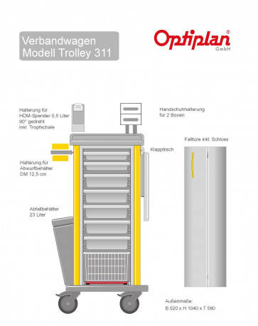 OPTIPLAN Trolley 311