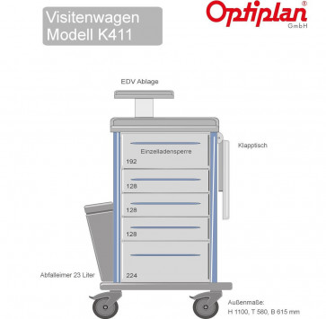 Visitenwagen OPTIPLAN  K 411