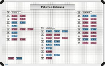 Patientenbelegung Magnettafel-Set