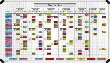 Tourenplan-Magnettafel-Set