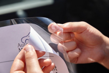 Infotasche Glassichtfolie A4