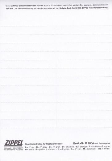 Einschiebestreifen B2047 weiß