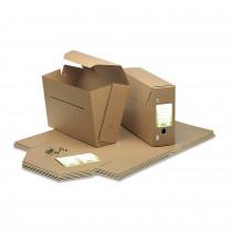 Gemeinde-Archivbox Folio mit Klammern und Labels