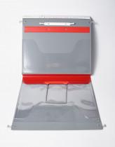 FFB Kurventasche, rot mit Schlauchheft- und Klemmhebelmechanik