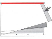 Planettentasche Dreifachtasche ohne Signalis-Streifen, rot