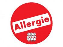 """Memory-Schilder rund mit Aufschrift """"Allergie"""