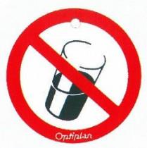 """Memory- Schilder  rund mit Symbol """"Nicht Trinken"""