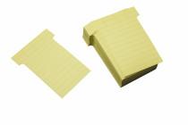 T-Karten liniert, Schmalformat