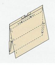ZIPPEL T-Gleit Hefter mit Metallheftung und Leinenfroschtasche